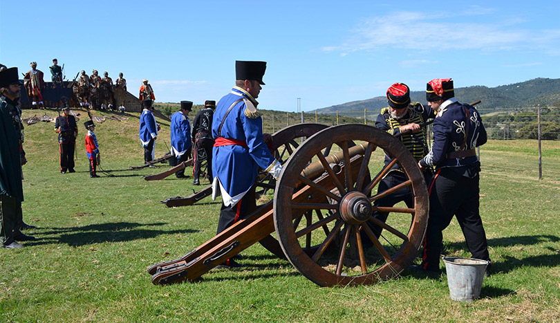 The batlle of Grahamstown reenactment.